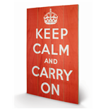 Impression sur Bois Keep Calm and Carry On 283438