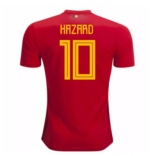Maillot de Football Belgique Adidas Home 2018-2019 (Hazard 10)