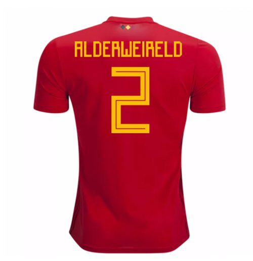 Maillot de Football Belgique Adidas Home 2018-2019 (Alderweireld 2) - Enfants