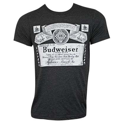 T-shirt Budweiser - Bottle Label
