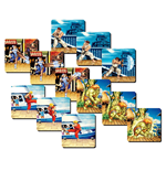 Street Fighter pack 4 sous-verres 3D Team