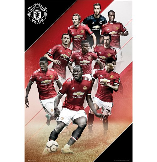 Poster Manchester United FC Joueurs 2017/18
