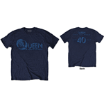 T-shirt Queen: News of the World 40th Vintage Logo