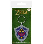 Legend of Zelda porte-clés caoutchouc Hylian Shield 6 cm