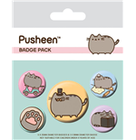 Pusheen pack 5 badges Fancy