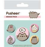 Pusheen pack 5 badges Pusheen Says Hi