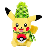 Pokemon peluche Pikachu (Winter Edition) 20 cm