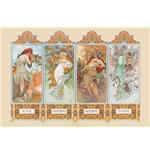 Poster Mucha - 4 Seasons