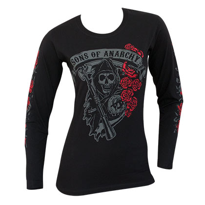 T-shirt Manches Longues Sons of Anarchy - Reaper Rose Logo