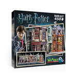 Puzzle Wrebbit W3D-1010 - Harry Potter - Diagon Alley Poster 3D 450 Pz)