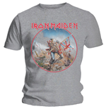 T-shirt Iron Maiden pour homme - Design: Trooper Vintage Circle