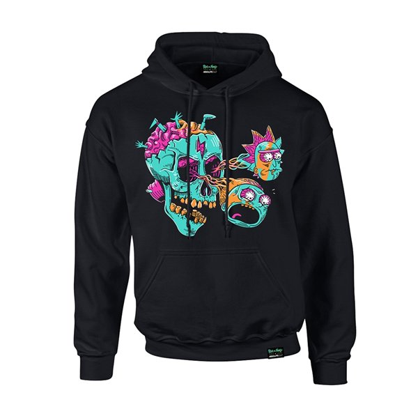 Sweat-shirt Rick And Morty X Absolute Cult EYEBALL SKULL