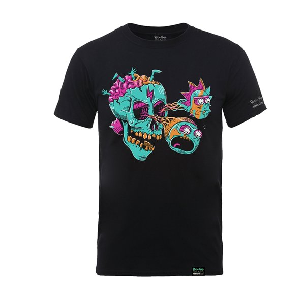 T-shirt Rick And Morty X Absolute Cult EYEBALL SKULL