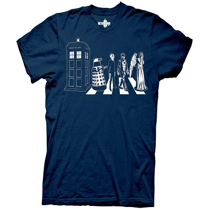 T-shirt Doctor Who - Abbey Road
