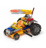 Les Tortues Ninja Mega Bloks jeu de construction Mikey Pizza Racer