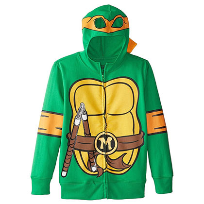 Sweat à Capuche Tortues Ninja - Michelangelo Costume (Enfants)
