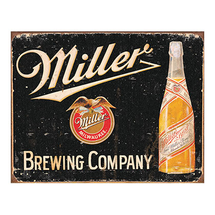 Plaque Miller Beer