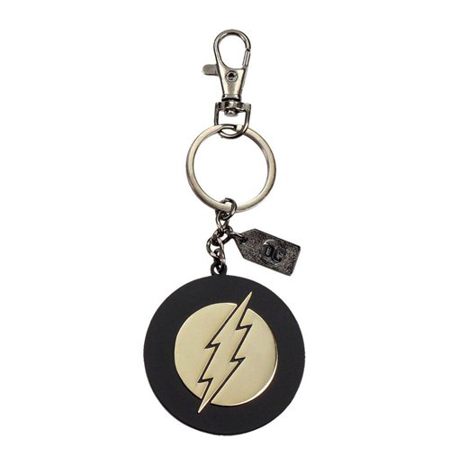 Justice League porte-clés métal The Flash Golden Logo