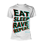 T-shirt Fatboy Slim - Eat Sleep Rave Repeat