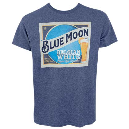 T-shirt Blue Moon - Belgian White Beer Label
