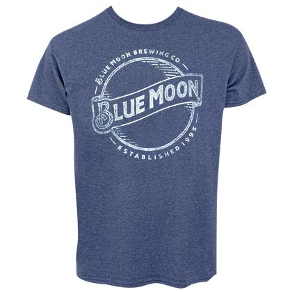 T-shirt Blue Moon Faded Line Logo
