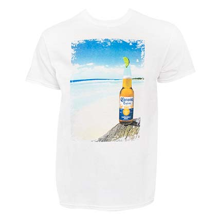 T-shirt Corona Extra - Bottle Beach Scene