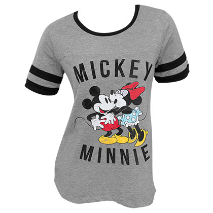 T Shirt Mickey Minnie Mouse Kissing