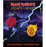 Iron Maiden Legacy of the Beast pack 2 badges Clairvoyant & Wicker Man