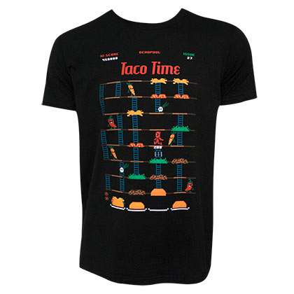 T-shirt Deadpool - Taco Time Game