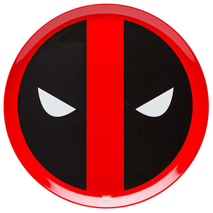Assiette Plate Deadpool - Logo