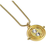 Harry Potter pendentif et collier Fixed Time Turner (plaqué or)