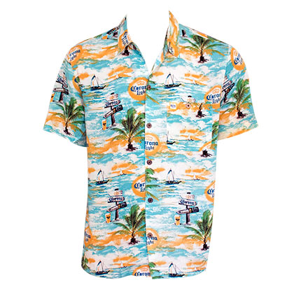 Chemise Hawaïenne Corona Light - Where's The Beach