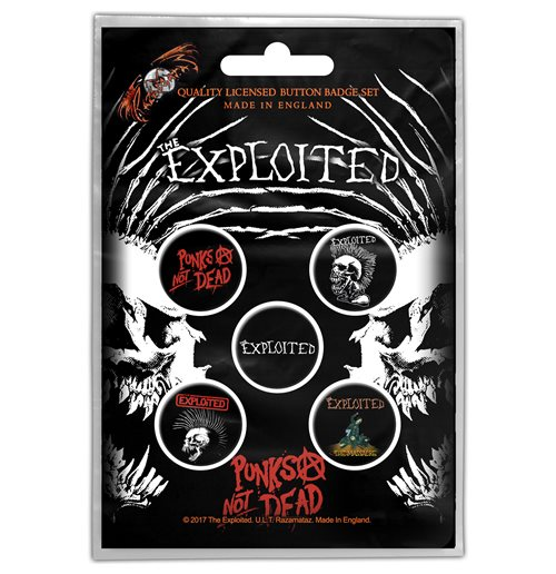 Épinglette The Exploited - Design: Punks Not Dead
