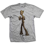 T-shirt Marvel Superheroes pour homme - Design: Avengers Infinity War Teen Groot Colour