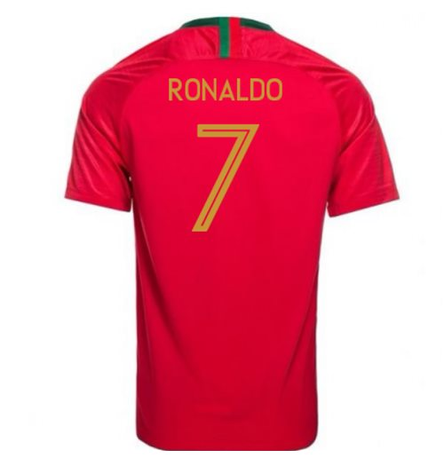 Maillot de Football Portugal Home Nike 2018-2019 (Ronaldo 7) - Enfants