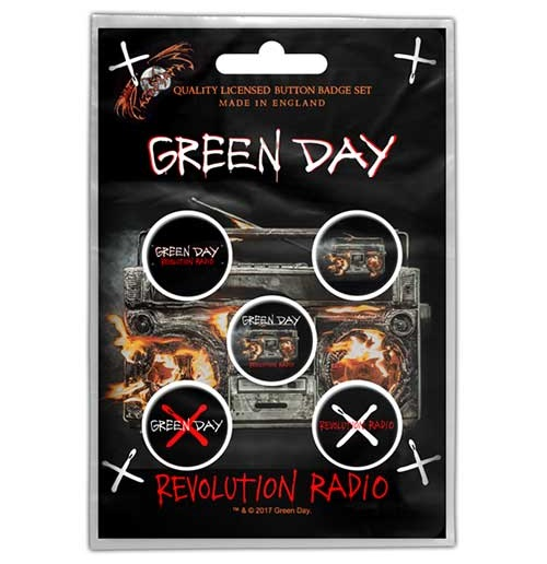 Épinglette Green Day - Design: Revolution Radio