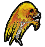 Patch Metallica - Design: Flaming Skull Cut-Out