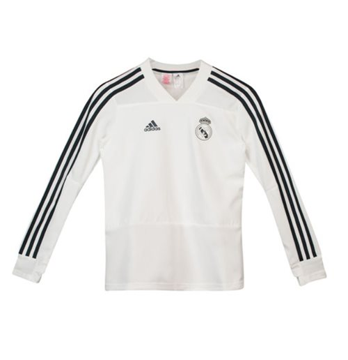 Haut D Entraînement Real Madrid Adidas 2018 2019 Blanc Enfants