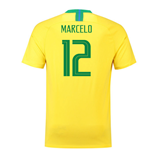 Maillot de Football Brésil Home Nike 2018-2019 (Marcelo 12)