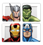 Marvel pack 4 plaques Avengers Faces