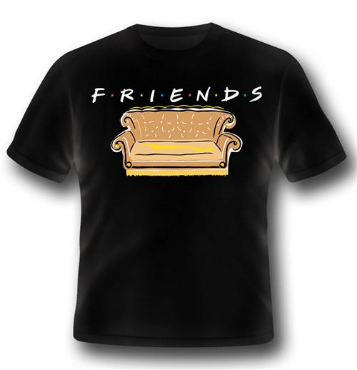 T-shirt Friends - Series Logo And Sofa
