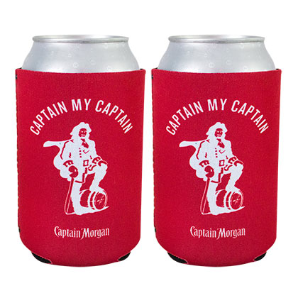 Set de 2 canettes de bière rouge CAPTAIN MORGAN