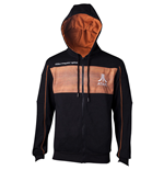 ATARI 2600 Logo Sweat à capuche pleine longueur, extra-large, noir / orange