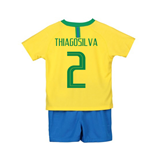 Tenue de Football Mini Kit Brésil Home Nike 2018-2019 (Thiago Silva 2) - Enfants
