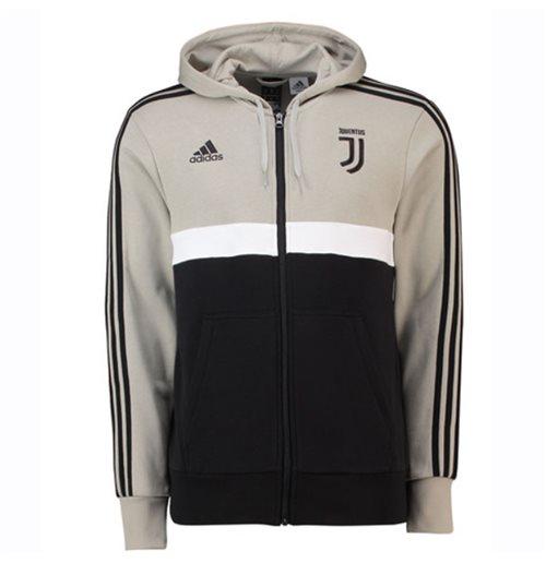 Veste à Capuche Juventus de Turin Adidas 3S 2018 2019 (Sesame)
