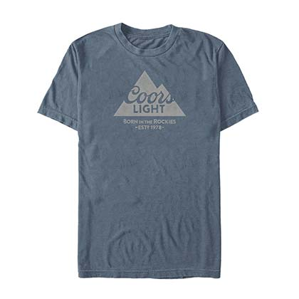 COORS Light Mountain 1978 Tee shirt Homme Bleu
