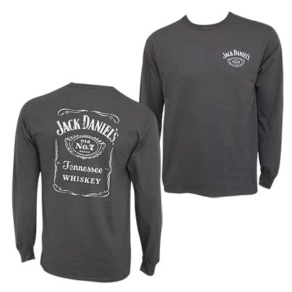 T-shirt Manches Longues Jack Daniel's -  Bottle Label