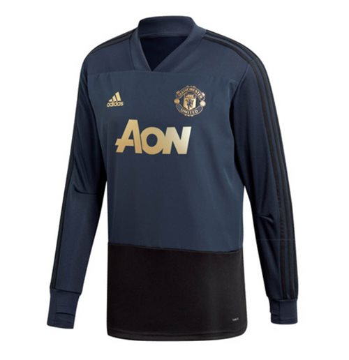Sweat-shirt Manchester United FC 2018-2019 (Bleu Marine)