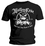 T-shirt Mötley Crüe  pour homme - Design: You Can't Kill Rock & Roll