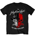 T-shirt Five Finger Death Punch  pour homme - Design: Jekyll & Hyde